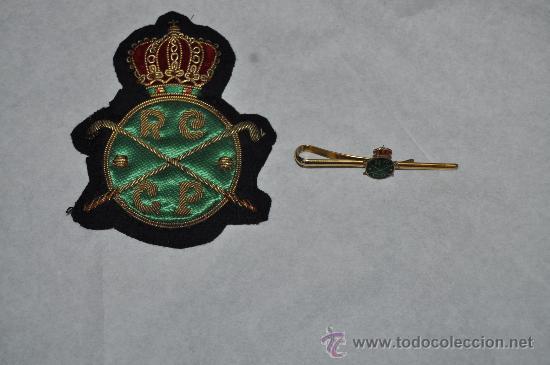 LOTE DEL REAL CLUB DE POLO DE CATALUNYA, ANTIGUO. PARCHE Y AGUJA DE CORBATA. (Coleccionismo Deportivo - Pins otros Deportes)
