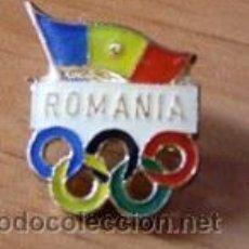 Coleccionismo deportivo: INSIGNIA OLÍMPICA ANTIGUA (RUMANÍA - ÉPOCA COMUNISTA). Lote 32665020