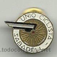 Coleccionismo deportivo: (P-9)PIN UNIO CICLISTA SABADELL. Lote 32956262