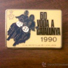 Coleccionismo deportivo: PIN-CHAPA AGUJA REAL MOTO CLUB DE CATALUNYA-60 VOLTA A CATALUNYA 1990-3,5X5 CMTS. Lote 33130325