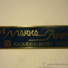 Coleccionismo deportivo: INSIGNIA 13 MARXA BERET BAQUEIRA 1990 ESQUI MONTAÑA. Lote 127180914