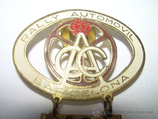 Coleccionismo deportivo: ANTIGUA INSIGNIA......RALLY AUTOMOVIL BARCELONA....1954 - 1955 - Foto 2 - 36059552
