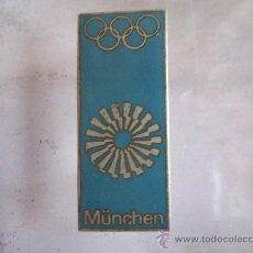 Coleccionismo deportivo: ANTIGUO PIN/INSIGNIA DEPORTES. JUEGOS OLIMPICOS DE MUNICH 1972. PIEZA DE COLECCIÓN. RARO!. Lote 36606227