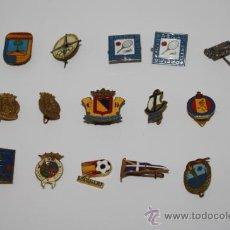 Coleccionismo deportivo: PIN054 LOTE DE 15 PINS CON DISTINTOS MOTIVOS DEPORTIVOS. DIFERENTES ÉPOCAS. Lote 37765159