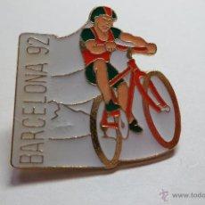 Coleccionismo deportivo: PIN CICLISTA BARCELONA 92. Lote 40069331