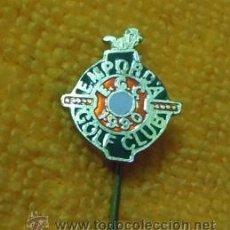 Coleccionismo deportivo: INSIGNIA PIN AGUJA LARGA CORBATA O OJAL - CLUB DE GOLF EMPORDA 1990. Lote 41285081