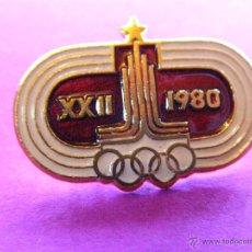 Coleccionismo deportivo: ANTIGUA INSIGNIA - XXII JUEGOS OLÍMPICOS - OLIMPIADAS MOSCÚ 1980 -. Lote 41329020