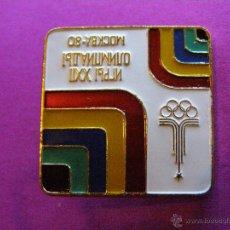 Coleccionismo deportivo: ANTIGUA INSIGNIA - XXII JUEGOS OLÍMPICOS - OLIMPIADAS DE MOSCÚ 1980 -. Lote 41329104