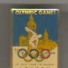 Coleccionismo deportivo: PIN CLIP OLIMPIADA JUEGOS OLIMPICOS OLYMPIC GAMES LONDON 1948 LONDRES. Lote 43177104