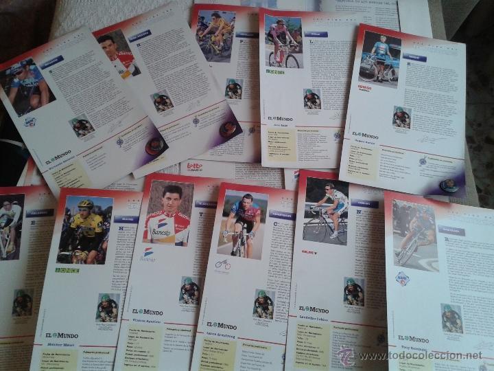 PINS DEL TOUR DE FRANCIA COLECCION AÑO 95 CON LAS FICHAS (Coleccionismo Deportivo - Pins otros Deportes)