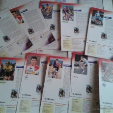 Coleccionismo deportivo: PINS DEL TOUR DE FRANCIA COLECCION AÑO 95 CON LAS FICHAS. Lote 45445635