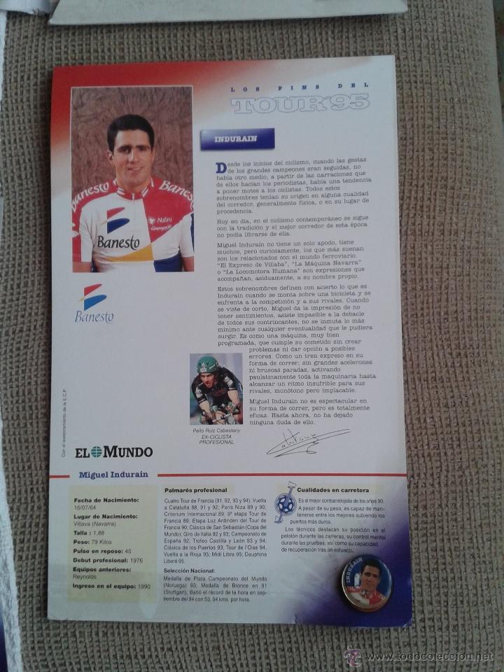 Coleccionismo deportivo: PINS DEL TOUR DE FRANCIA COLECCION AÑO 95 CON LAS FICHAS - Foto 4 - 45445635