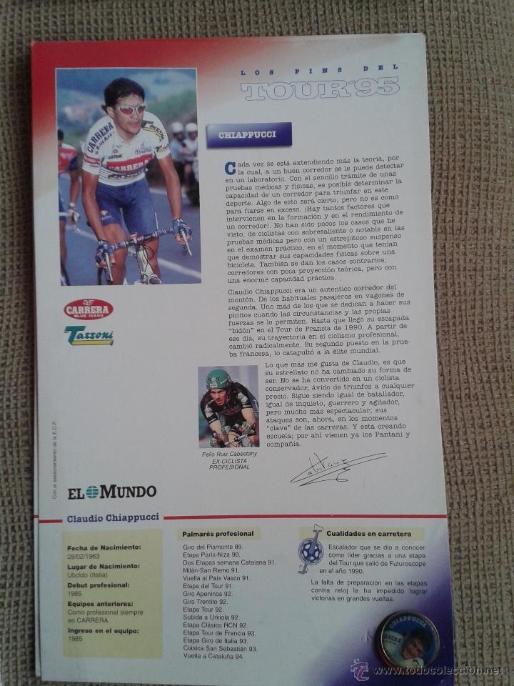 Coleccionismo deportivo: PINS DEL TOUR DE FRANCIA COLECCION AÑO 95 CON LAS FICHAS - Foto 5 - 45445635