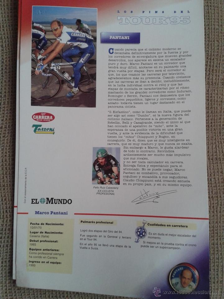 Coleccionismo deportivo: PINS DEL TOUR DE FRANCIA COLECCION AÑO 95 CON LAS FICHAS - Foto 7 - 45445635