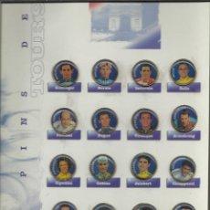 Coleccionismo deportivo: COLECCION COMPLETA EN CARPETA CON LAS FICHAS Y LOS PINS DEL TOUR DEL 95 VER FOTOS . Lote 45501822