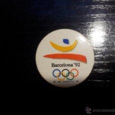 Coleccionismo deportivo: CHAPA OLIMPIADAS BARCELONA 1992. Lote 45994607