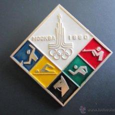 Coleccionismo deportivo: ANTIGUO PIN INSIGNIA OLIMPIADAS 1980. Lote 46426021