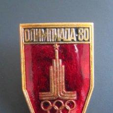 Coleccionismo deportivo: ANTIGUO PIN INSIGNIA OLIMPIADAS 1980. Lote 46426080