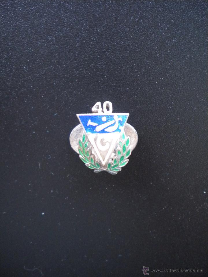 INSIGNIA DEL 40 ANIVERSARIO DEL CLUB VASCONIA, ES DE OJAL, PLATA Y ESMALTADA,PELOTA VASCA. (Coleccionismo Deportivo - Pins otros Deportes)