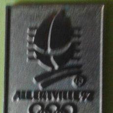 Coleccionismo deportivo: PIN OLIMPIADAS INVIERNO ALBERTVILLE 92. Lote 48894073