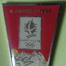 Coleccionismo deportivo: PIN OLIMPIADAS ALBERTVILLE 92. 9 DE FEBRERO. Lote 48894129