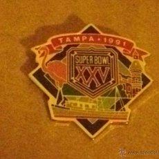 Coleccionismo deportivo: -PIN SUPER BOWL XXV - TAMPA 1991 -- FUTBOL AMERICANO - FOOTBALL - RUGBY. Lote 51982467