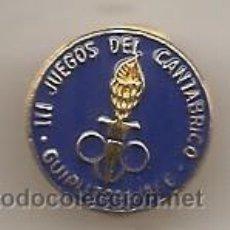 Coleccionismo deportivo: III JUEGOS DEL CANTÁBRICO. GUIPÚZCOA 1966. INSIGNIA DE OJAL. Lote 52641397