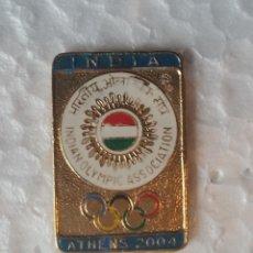 Coleccionismo deportivo: GOM-1061_NOC INDIA PIN, ATENAS 2004. Lote 52718233