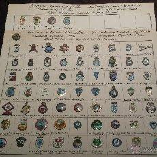 Coleccionismo deportivo: LOTE PIN COLECCION MUY RAROS FEDERACIÓN ESPAÑOLA TIRO CAZA Y PESCA(PIN O INSIGNIAS MUY ANTIGUAS LEER. Lote 53311683
