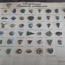 Coleccionismo deportivo: LOTE COLECCION PIN ANTIGUOS MUY RAROS INSIGNIAS FEDERACIÓN ESPAÑOLA DE CLUBS NATACION (LEER TEXTO). Lote 53316559