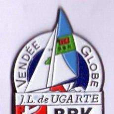 Coleccionismo deportivo: PIN REGATA VENDÉE GLOBE-J.L.UGARTE-PATROCIONIO BBK. Lote 53338773