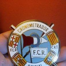 Coleccionismo deportivo: PLACA INSIGNIA CRONOMETRADOR OFICIAL DE FEDERACION CATALANA REMO ...CLUB REMO TORTOSA AÑOS 50-60 . Lote 54326842