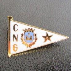 Coleccionismo deportivo: INSIGNIA ANTIGUA CLUB NAUTICO CNG GANDIA PIN BROCHE NÁUTICO AÑOS 60-70. Lote 43335089
