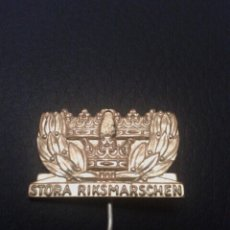 Coleccionismo deportivo: SUECIA INSIGNIA GRAN MARCHA NACIONAL STORA RIKSMARSCHEN 1955. Lote 56325492