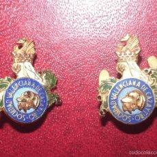 Coleccionismo deportivo: PAREJA PINS: SOCIEDAD VALENCIANA DE CAZA Y TIRO. . Lote 65676231