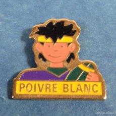 Coleccionismo deportivo: PIN PINS BADGE SPORT RUGBY CLUB POIVRE BLANC TEMÁTICA DEPORTES FUTBOL EUROPEO. Lote 57744441