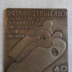 Coleccionismo deportivo: PIN/PLACA 24 HORAS DE MONTJUICH COPA DE EUROPA 1977 - II REUNION LIBRE- POLE POSITION M C. MOTO.. Lote 59666179