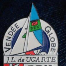 Coleccionismo deportivo: PIN VELA VELERO VENDEE GLOBE JOSE LUIS UGARTE. Lote 68567505
