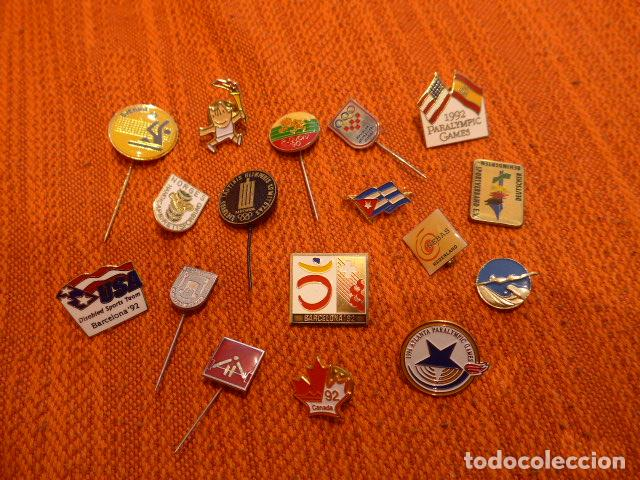Lote 17 Insignia Y Pin Antiguos De Juegos Olimp Comprar En