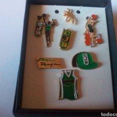 Coleccionismo deportivo: SET 7 PINES CJB PENYA JOVENTUT BADALONA.. Lote 82923300