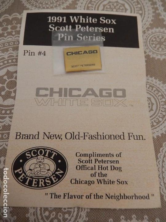 Coleccionismo deportivo: 1991 WHITE SOX SCOTT PETERSEN PIN SERIES - Foto 1 - 88962216
