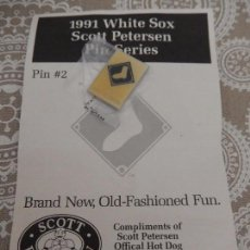 Coleccionismo deportivo: 1991 WHITE SOX SCOTT PETERSEN PIN SERIES. Lote 88962308