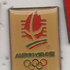 Coleccionismo deportivo: PIN DE DEPORTES-JUEGOS DE ALBERTVILLE 92. Lote 90708840