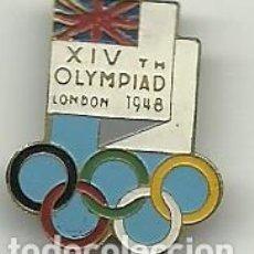 Coleccionismo deportivo: (P-212)INSIGNIA DE AGUJA ORIGINAL XIX OLIMPIADA DE LONDRES 1948. Lote 92832080