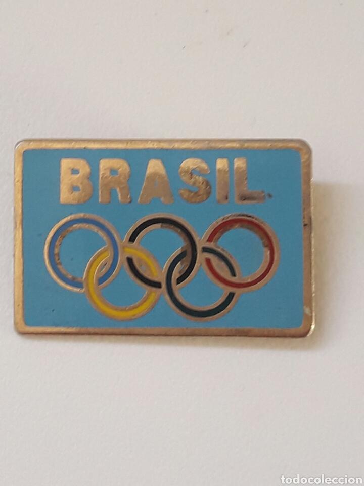 INSIGNIA OLIMPICA BRASIL EDICIÓN LIMITADA A 1000 UNIDADES (Coleccionismo Deportivo - Pins otros Deportes)