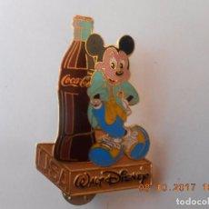Colecionismo desportivo: PIN MICKEY MOUSSE USA WALT DISNEY ESMALTADO DE COCACOLA. Lote 99849475