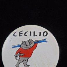 Coleccionismo deportivo: CHAPA DE IMPERDIBLE MASCOTA CECILIO SIERRA NEVADA 95. Lote 99933575