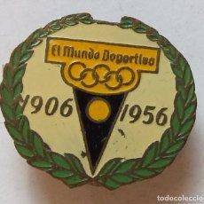 Coleccionismo deportivo: ANTIGUO PIN INSIGNIA CONMEMORATIVA 50 ANIVERSARIO DIARIO EL MUNDO DEPORTIVO. Lote 102725827