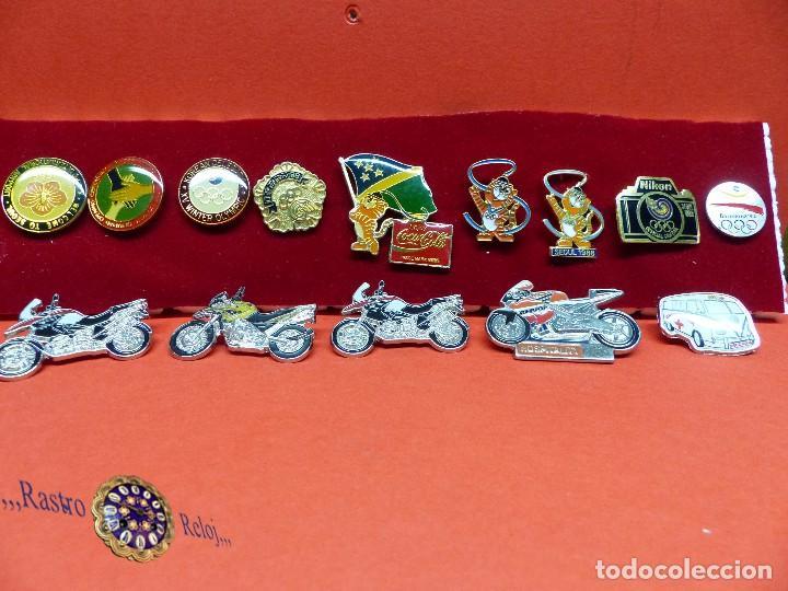 ,,,PINS OLIMPIADAS Y MOTOS,,, (Coleccionismo Deportivo - Pins otros Deportes)