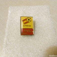 Coleccionismo deportivo: PIN AGUJA ESPAÑA 82 COCA COLA MUNDIAL RFEF 1979 FUTBOL SUJECCION IMPERDIBLE. Lote 107855302